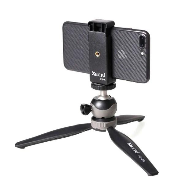 Mini Desktop Phone Stand Tabletop Tripod for Smart Phone 3