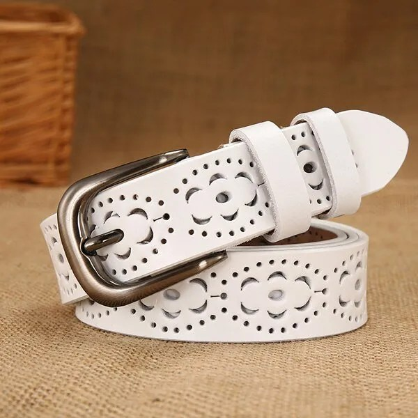 New Women Fashion Wide Genuine Leather Belt for Jeans 9