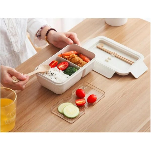850 ml Wheat Straw Lunch Box Dinnerware Food Storage Container 2