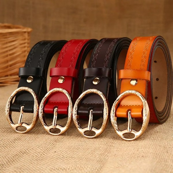 Women Designer Brand Luxury Leather Belt 2