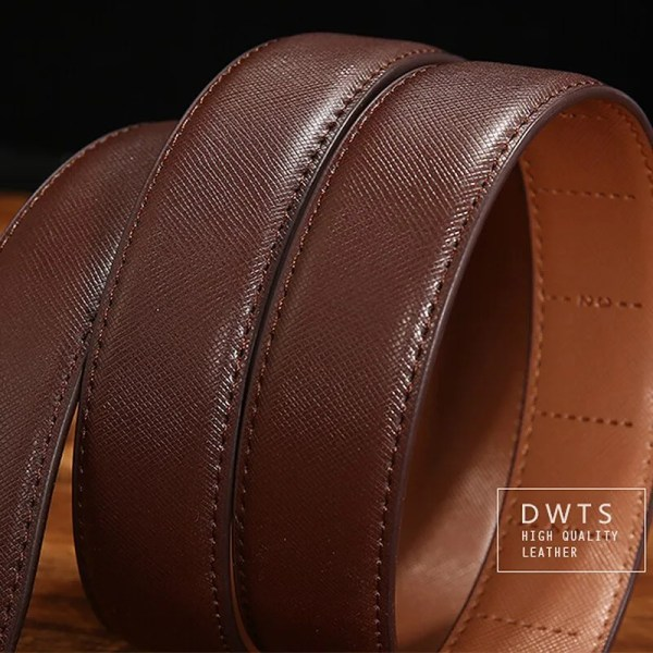 Genuine Leather Men Strap Luxury Belt 5