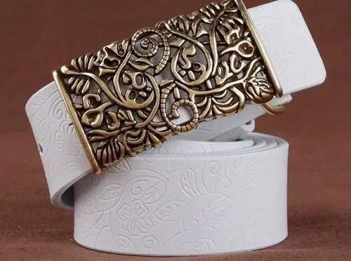 Women Fashion Luxury Genuine Top Quality Leather Belt 10