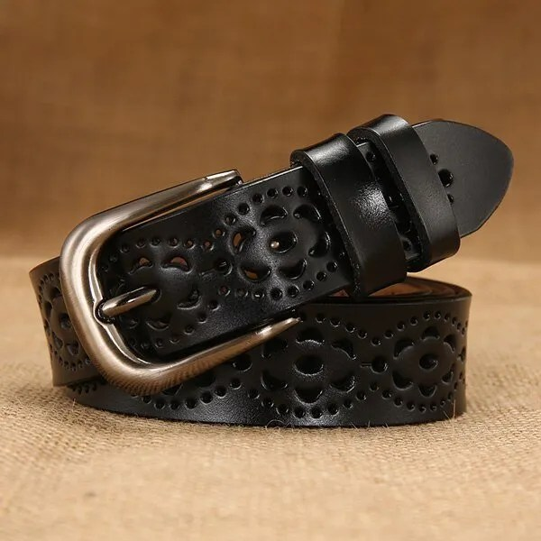 New Women Fashion Wide Genuine Leather Belt for Jeans 11