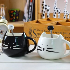 Ceramic Cute Cat Mug in 400 ml