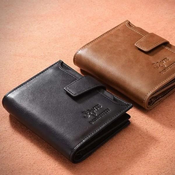 Vintage Men PU Cowhide Leather Multi-Functional Wallet 1