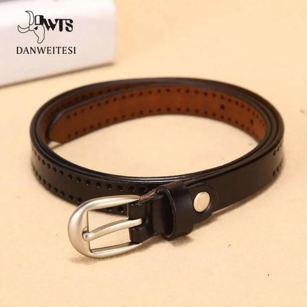 New Pin Buckle Women Fashion Genuine Leather Belt 2