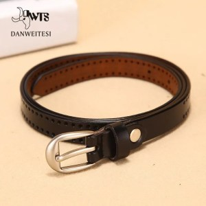 New Pin Buckle Women Fashion Genuine Leather Belt