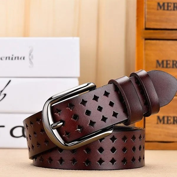 Women Genuine Leather Quality Alloy Fashion Belt for Women 7