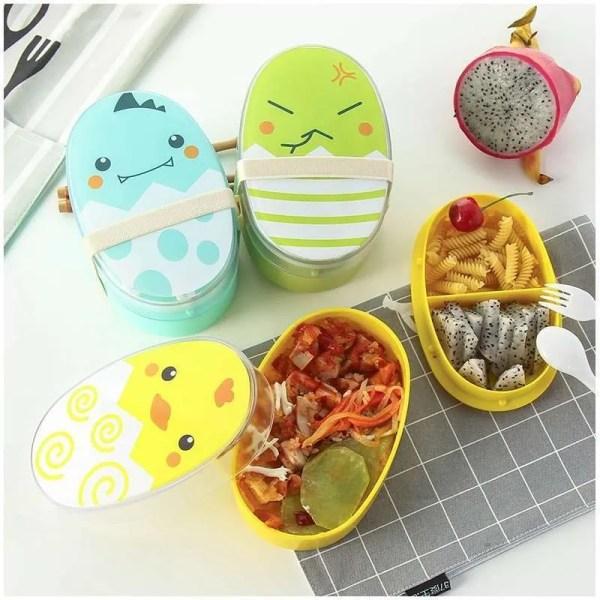 Kids Cartoon Healthy Lunch Box Microwaveable 3