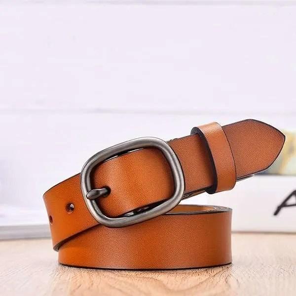 Women Fancy Vintage Leather Jeans Belt 11
