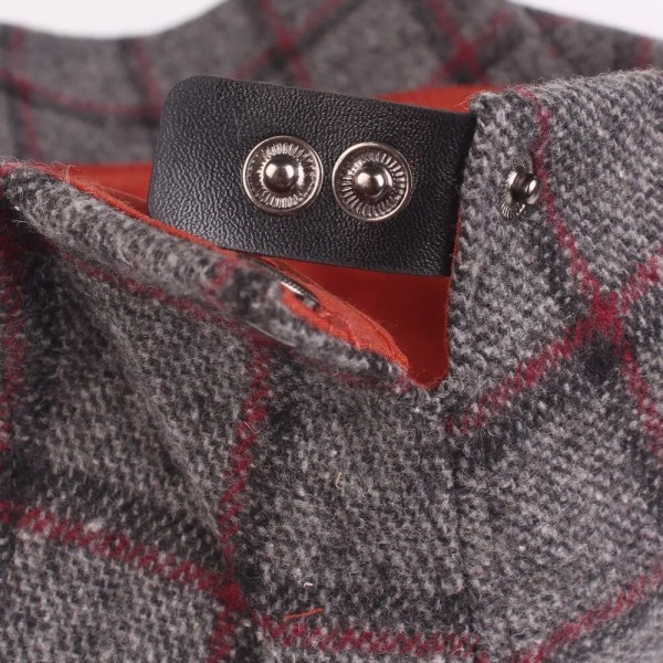 Spring Autumn Hats For Men in Casual Plaid Cotton 6