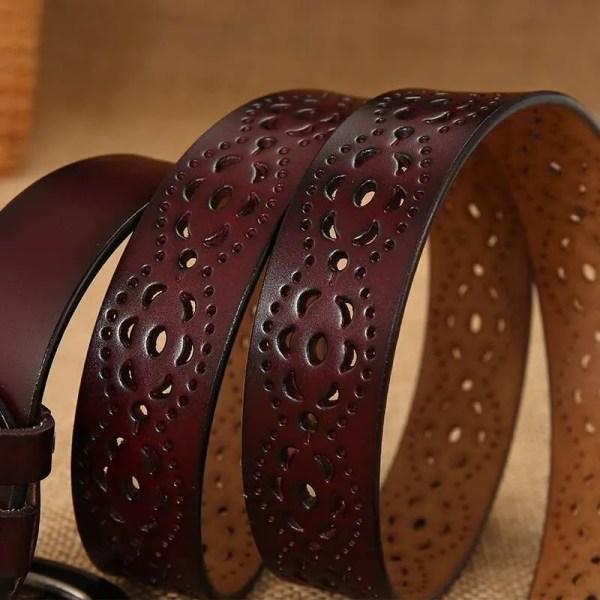 Genuine Casual Designer Leather Belt for Women 4