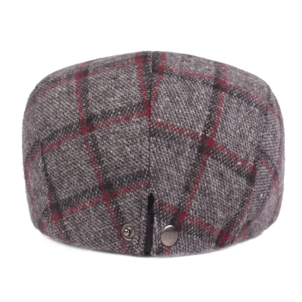 Spring Autumn Hats For Men in Casual Plaid Cotton 3