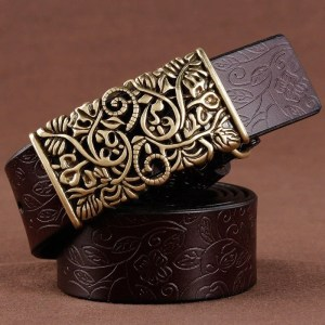 Hand Woven Real Leather Women Casual Belt