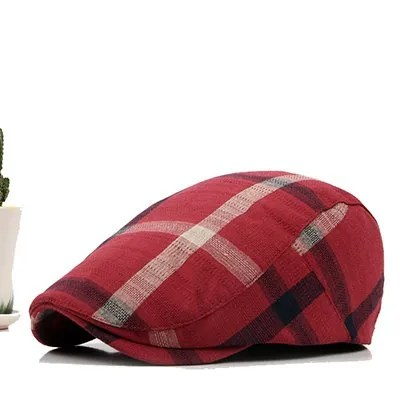 Classic England Style Plaid Berets Caps for Men and Women 7