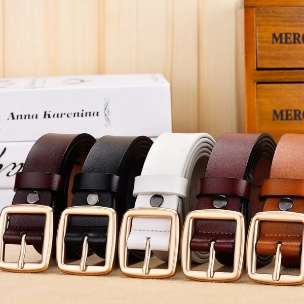 Fashion Women Belt Genuine Leather for Jeans 2