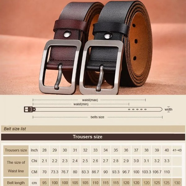 Casual Men's Genuine Leather Belt 6