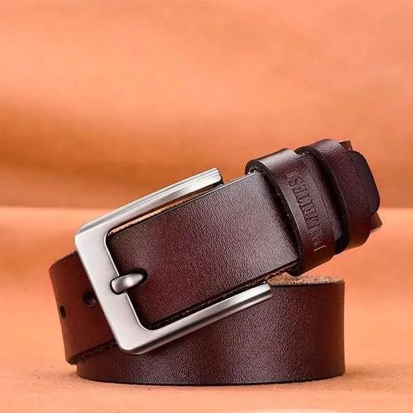 Men's Genuine Cowhide Leather Belt 8