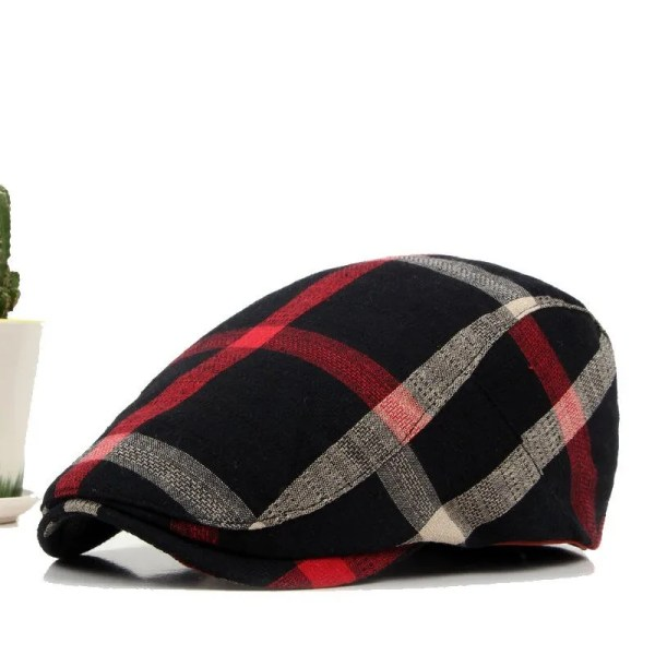 Classic England Style Plaid Berets Caps for Men and Women 5