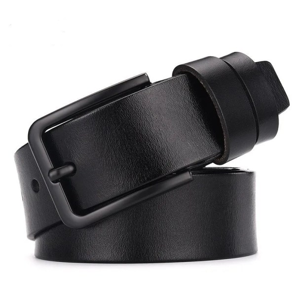 Men's Genuine Cow Leather Luxury Strap Belt with Pin Buckle 1