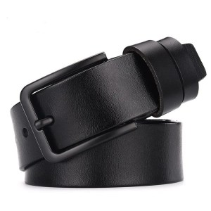 Men's Genuine Cow Leather Luxury Strap Belt with Pin Buckle