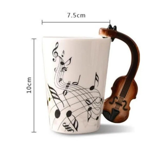 Musical Instruments Style Novelty Ceramic Mugs 1