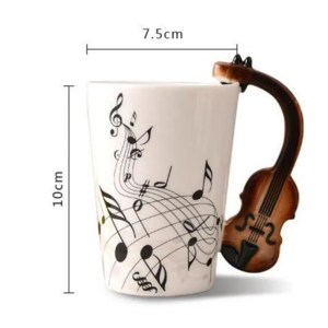 Musical Instruments Style Novelty Ceramic Mugs