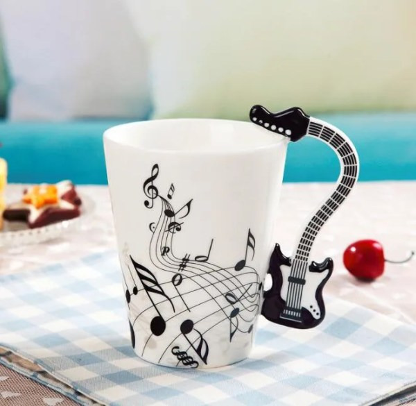 Musical Instruments Style Novelty Ceramic Mugs 4