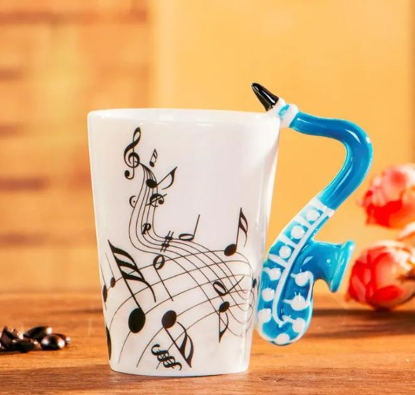 Musical Instruments Style Novelty Ceramic Mugs 15