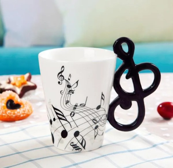 Musical Instruments Style Novelty Ceramic Mugs 10