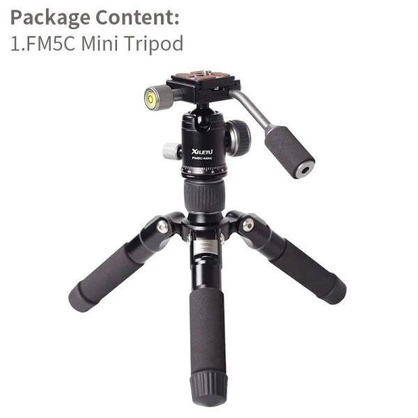 Mini Aluminum Stable Tabletop Desktop Tripod 5