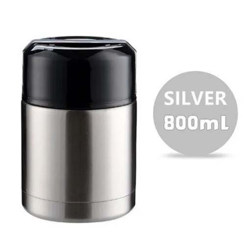 Double Stainless Steel Thermos Food Containers Lunch Box 11