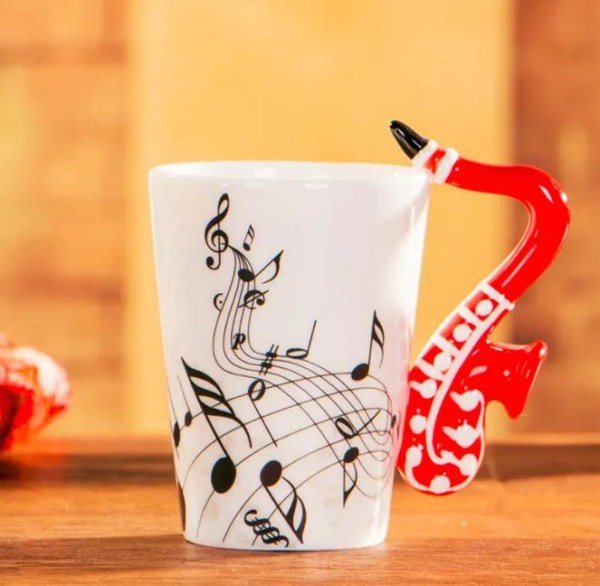 Musical Instruments Style Novelty Ceramic Mugs 7