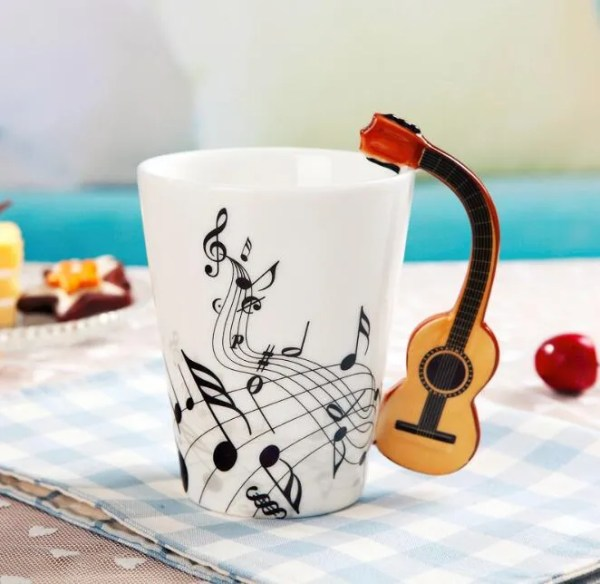 Musical Instruments Style Novelty Ceramic Mugs 2