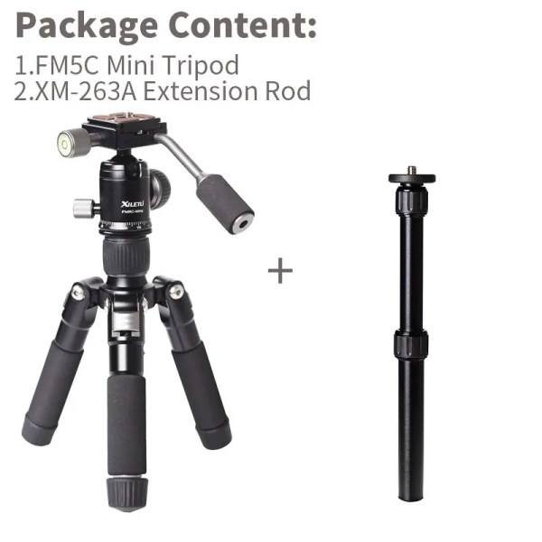 Mini Aluminum Stable Tabletop Desktop Tripod 4