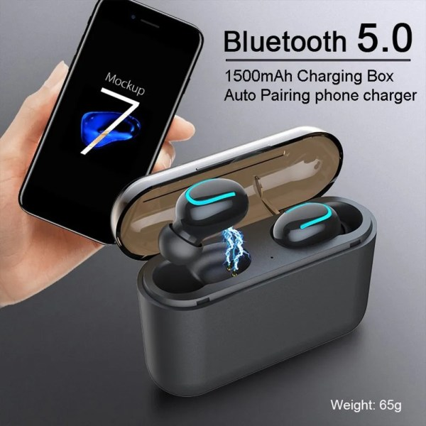 Q32 TWS Wireless Bluetooth 5.0 Earphones with 1500 mAh Charge 1