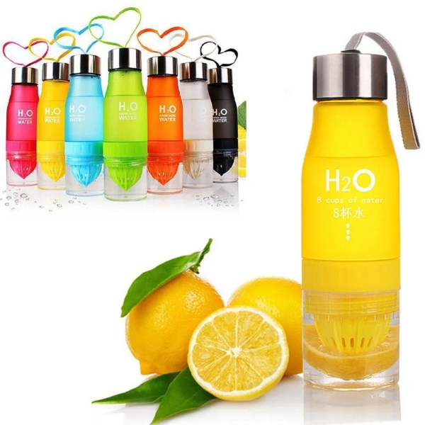 H2O 2019 700 ml Plastic Fruit Infusion Water Bottle 2