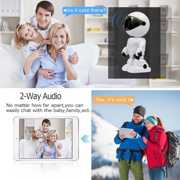 Hiseeu 2MP HD Wireless IP Wifi 1080P Robot Camera 3