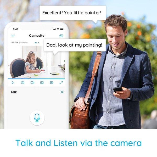 Reolink 3 MP Indoor Security Camera Voice & Audio