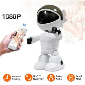 Hiseeu 2MP HD Wireless IP Wifi 1080P Robot Camera