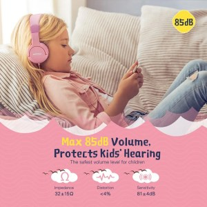 Colored Wired Headphones for Kids with Mic