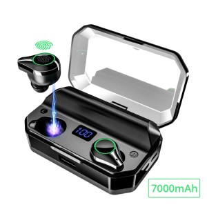 Bluetooth 5.0 Wireless Earphones with 7000 mAh Charging Case