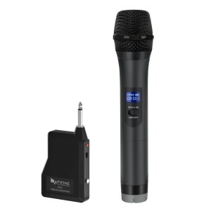 FIFINE UHF Wireless Handheld Dynamic Microphone and Receiver