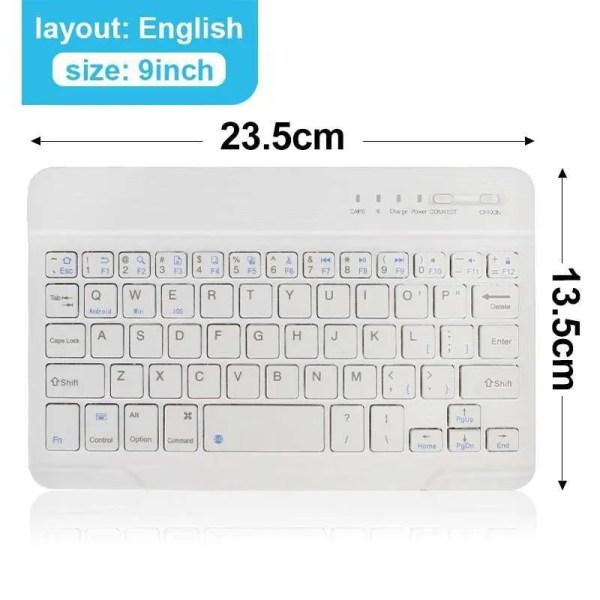 Mini Wireless Bluetooth Rechargeable Keyboard 7