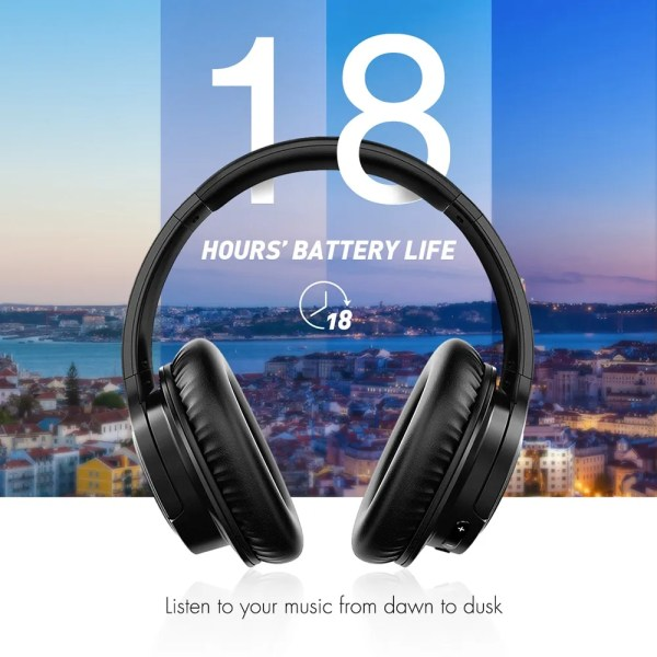 Large Over Ear Bluetooth Hi-Fi Stereo Noise Cancelling Headphones 2