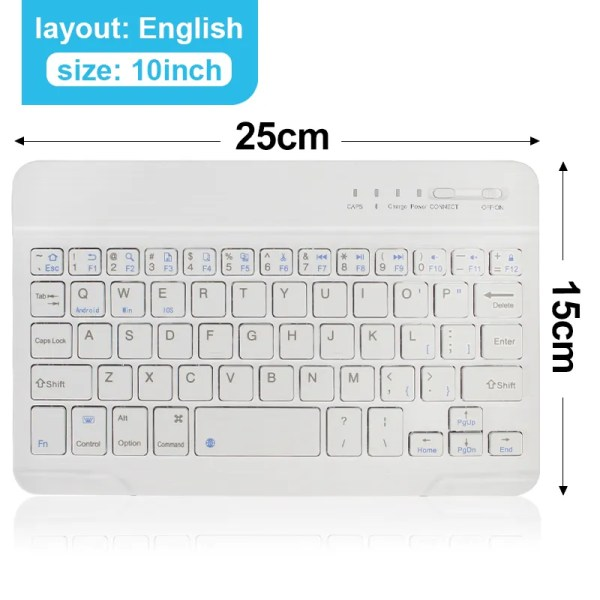 Mini Wireless Bluetooth Rechargeable Keyboard 12