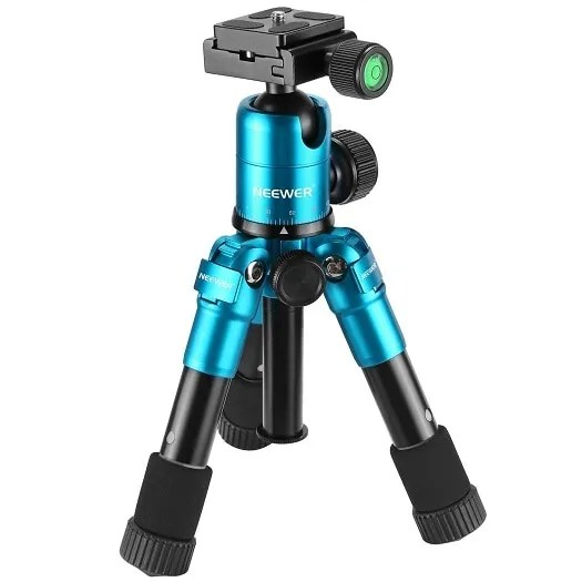 Portable 20 inches Compact Macro Mini Tripod with 360 Degree Ball Head 10