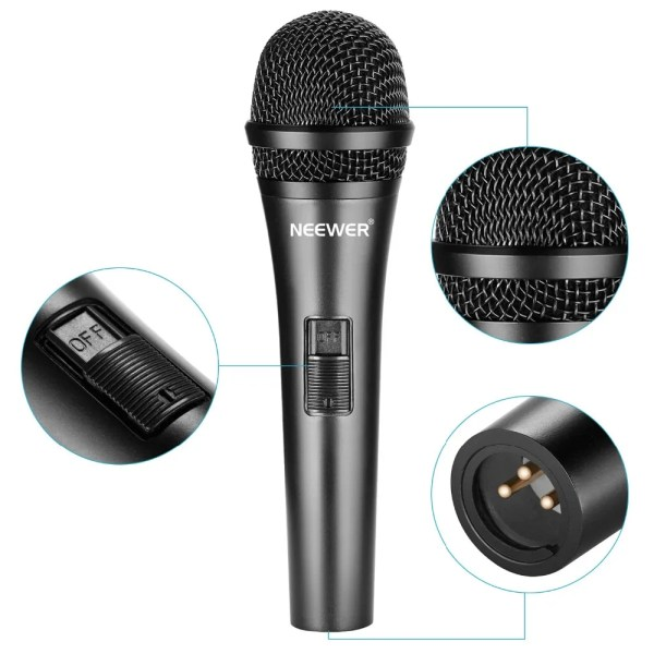 Professional Cardioid Dynamic Microphone with 3.5 mm Male to XLR Female Cable 2
