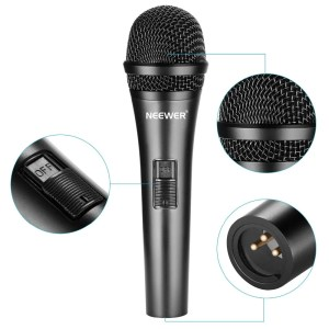 Professional Cardioid Dynamic Microphone with 3.5 mm Male to XLR Female Cable