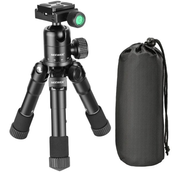 Portable 20 inches Compact Macro Mini Tripod with 360 Degree Ball Head 4